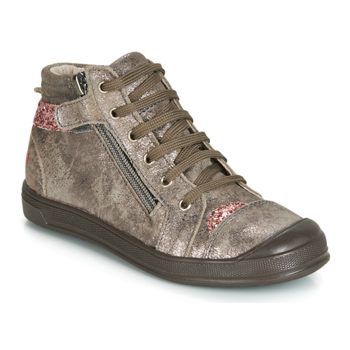 Shoes Girl Hi top trainers GBB DESTINY Taupe / Pink