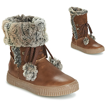 Shoes Girl High boots GBB NOUSTIK Vte / Brown