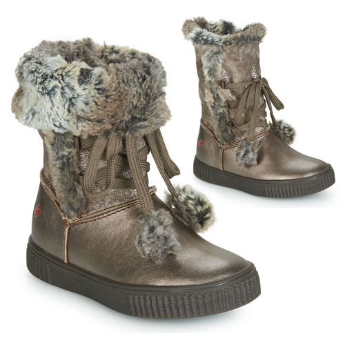 Shoes Girl High boots GBB NOUSTIK Bronze