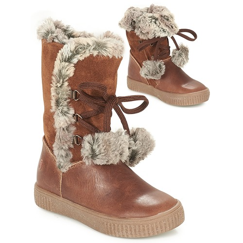 Shoes Girl High boots GBB NOUSTIK Cognac