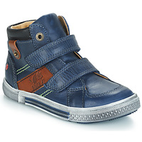Shoes Boy Mid boots GBB RENDALL Marine / Brown