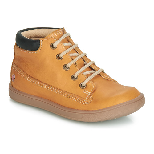 Shoes Boy Hi top trainers GBB NORMAN Ocre tan