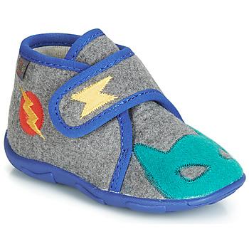 Shoes Boy Slippers GBB SUPER DOUDOU Grey / Blue