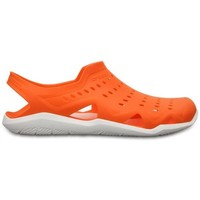 Shoes Men Sandals Crocs Swiftwater River Sandals in Orange & White 203963 846 Orange