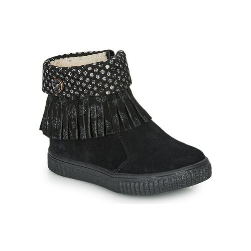 Shoes Girl Mid boots Catimini PERETTE Black