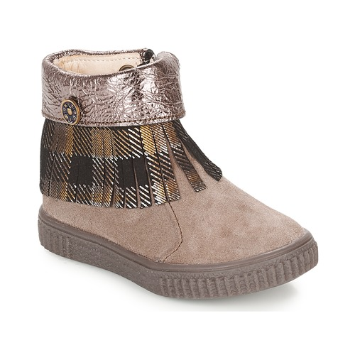 Shoes Girl Mid boots Catimini PERETTE Beige