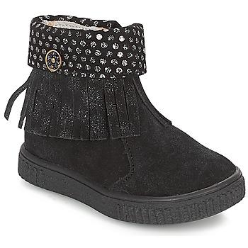 Shoes Girl Mid boots Catimini PERETTE Black / Silver