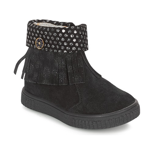 Shoes Girl Mid boots Catimini PERETTE Black / Silver