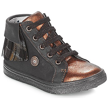 Shoes Girl Hi top trainers Catimini LOULOU Black / Coppery
