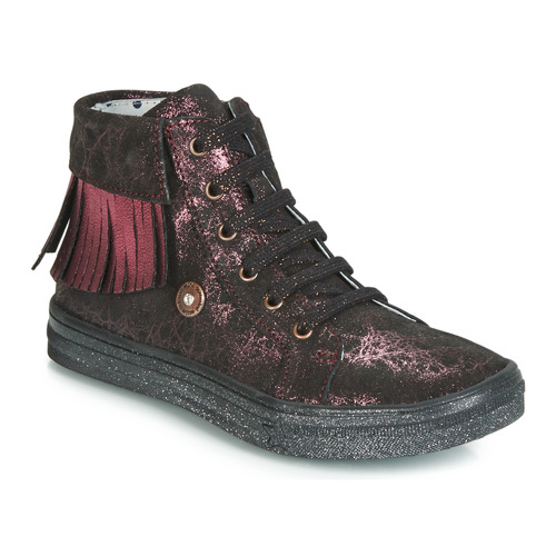 Shoes Girl Hi top trainers Catimini LOULOU Black / Pink