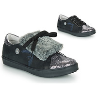 Shoes Girl Low top trainers Catimini MARGOTTE Black / Silver