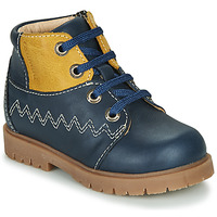 Shoes Boy Hi top trainers Catimini CHARLY Navy-mustard
