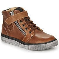 Shoes Boy Hi top trainers Catimini TOBBY Brown