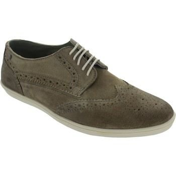 Shoes Men Derby Shoes Base London Perform Greasy Suede Taupe