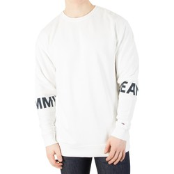 Clothing Men jumpers Tommy Jeans Men's Essential Banded Sweatshirt, White white