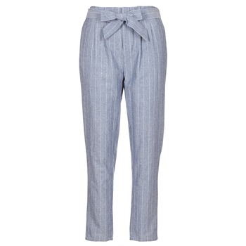 Clothing Women 5-pocket trousers Betty London IKARALE Blue / White