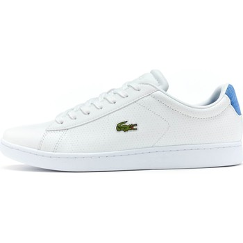 Shoes Men Low top trainers Lacoste Carnaby EVO 217 1 SPM Leather Trainers in White & Blue 733SPM10 White