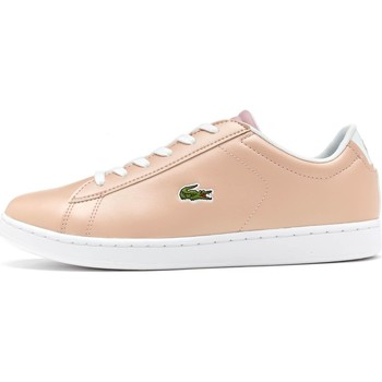 Shoes Children Low top trainers Lacoste Carnaby Evo 317 6 SPJ GS Trainers in Pink 734SPJ0006 15J Pink