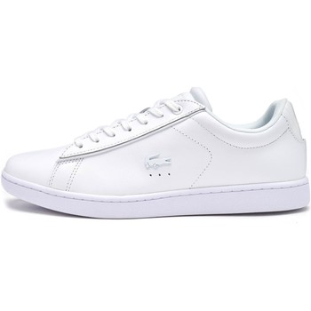 Shoes Women Low top trainers Lacoste Carnaby EVO 417 1 SPW Women Trainers in White 734SPW0013 001 White