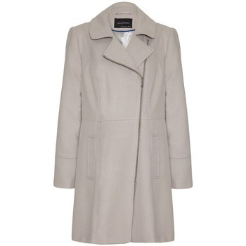 Clothing Women coats Anastasia - Stone Double Breast Zip Military Beige