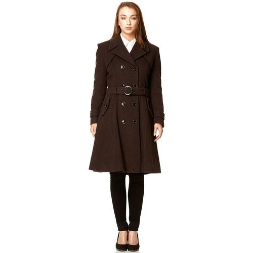 Clothing Women coats De La Creme Brown Womens Wool & Cashmere Winter brown