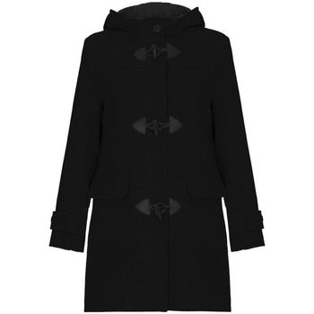 De La Creme  Black Womens Wool   Cashmere Winter Hooded Duffle Coat  womens Jacket in Black