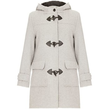 De La Creme  Grey Womens Wool   Cashmere Winter Hooded Duffle Coat  womens Coat in grey