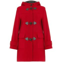 Clothing Women Duffel coats De La Creme Wool Cashmere Winter Hooded Duffle Coat red
