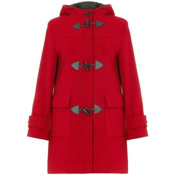 De La Creme  Red Womens Wool   Cashmere Winter Hooded Duffle Coat  womens Jacket in red