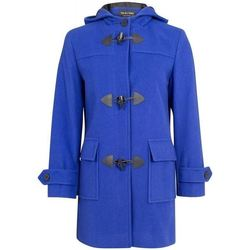 Clothing Women coats De La Creme Wool Cashmere Winter Hooded Duffle Coat BLUE