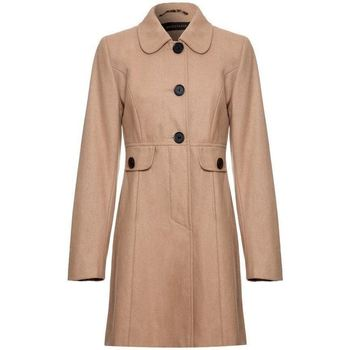 Clothing Women coats Anastasia - Orange Womens Wool Winter 60`s Coat BEIGE
