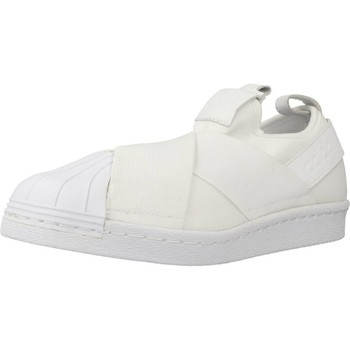 Shoes Women Low top trainers adidas Originals SUPERSTAR SLIP ON White