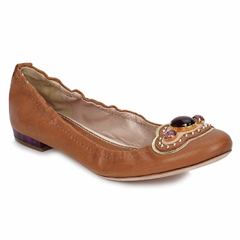 Shoes Women Flat shoes Sebastian AMARILLI Camel