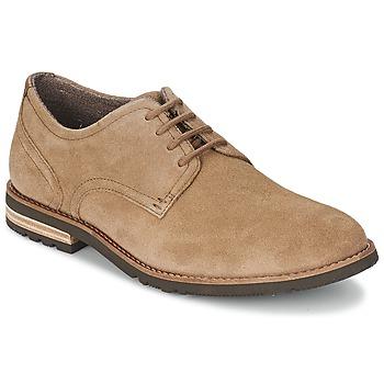 Shoes Men Derby Shoes Rockport PLAINTOE OXFORD Brown