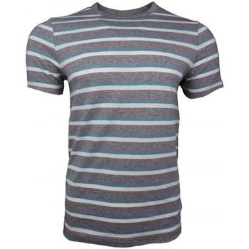 Clothing Men short-sleeved t-shirts Farah Factory Multi Crew SS Tee grey