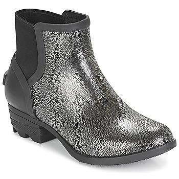 Shoes Women Mid boots Sorel JANEY CHELSEA Black / Silver