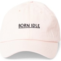 Clothes accessories Men Caps The Idle Man Born Idle Underline Embroidered Cap Pink Pink