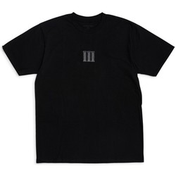 Clothing Men short-sleeved t-shirts The Idle Man Pillars Embroidered T-Shirt Black Black