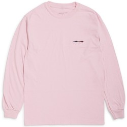 Clothing Men Long sleeved tee-shirts The Idle Man Idealist Strikethrough Embroidered Long Sleeve T-Shirt Pink Pink