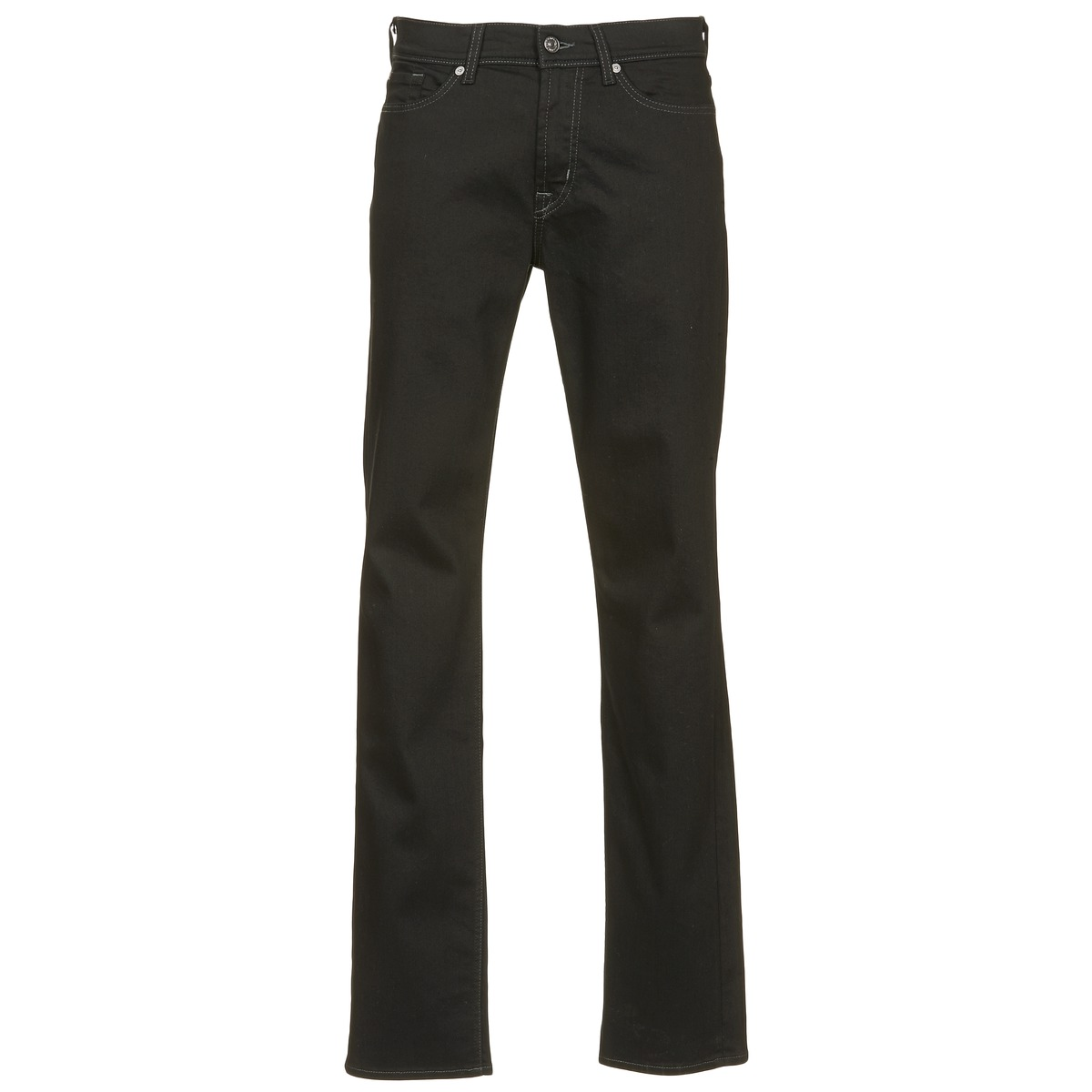 7 for all mankind  slimmy luxe performance  men's skinny jeans in black