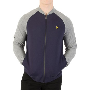 Clothing Men Jackets Lyle & Scott Men's Bomber Sweatshirt, Blue blue