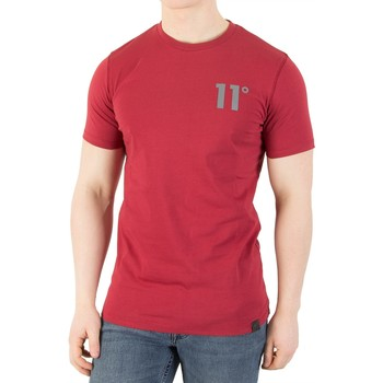 Clothing Men short-sleeved t-shirts 11 Degrees Men's Core T-Shirt, Red red