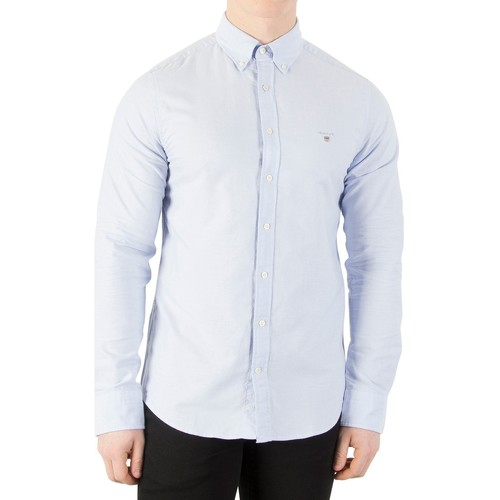 Clothing Men Long-sleeved shirts Gant Button Down Oxford Shirt blue