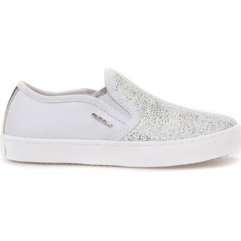 Shoes Children Slip ons Geox JR Kilwi Girl Grey-Silver