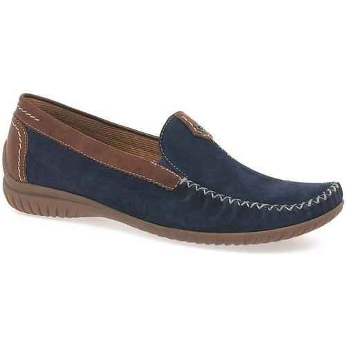 Shoes Women Loafers Gabor California Sporty Womens Moccasins blue