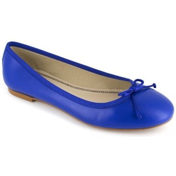Shoes Women Flat shoes J.bradford Ballerina  Blue Leather JB-CARLA Blue