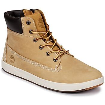 Shoes Children Hi top trainers Timberland Davis Square 6 Inch Boot Wheat / Naturebuck