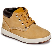 Shoes Children Hi top trainers Timberland Davis Square Leather Chk Brown / Wheat