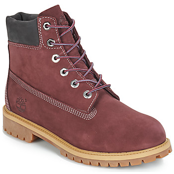 Shoes Children Mid boots Timberland 7 In Premium WP Boot Bordeaux