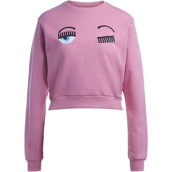 Clothing Women sweaters Chiara Ferragni Chiara Ferragni Flirting Eyes pink light fleece Pink